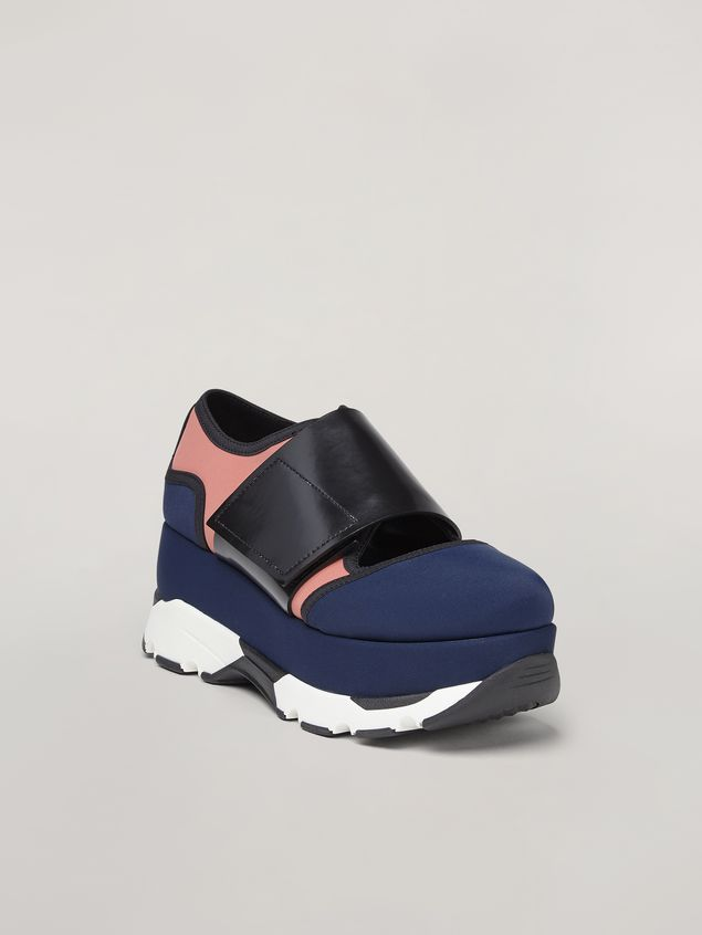 Marni Sneaker in blue technical fabric Woman - 2