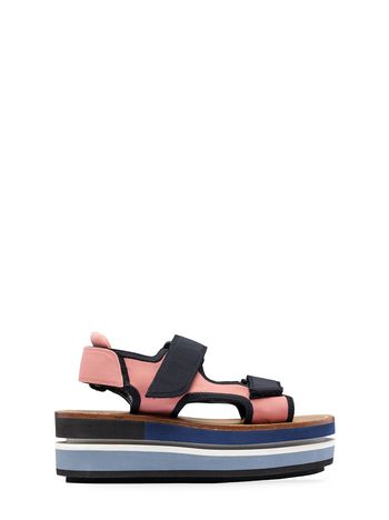 Marni Two-band wedge in cotton ribbon Woman