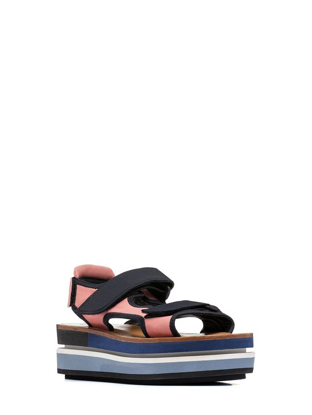Marni Wedge with two bands in cotton ribbon Woman - 2