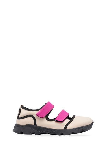 Marni Sneaker in beige technical fabric Woman