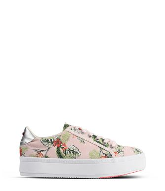 NAPAPIJRI ASTRID PRINTED WOMAN TRAINERS,LIGHT PINK