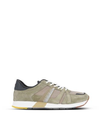 NAPAPIJRI RABARI SUEDE MAN TRAINERS,MILITARY GREEN