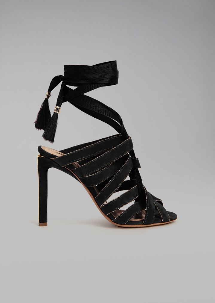 4037776d1d SANDALS WITH HEEL AND BRAIDED LACES | Woman | Giorgio Armani