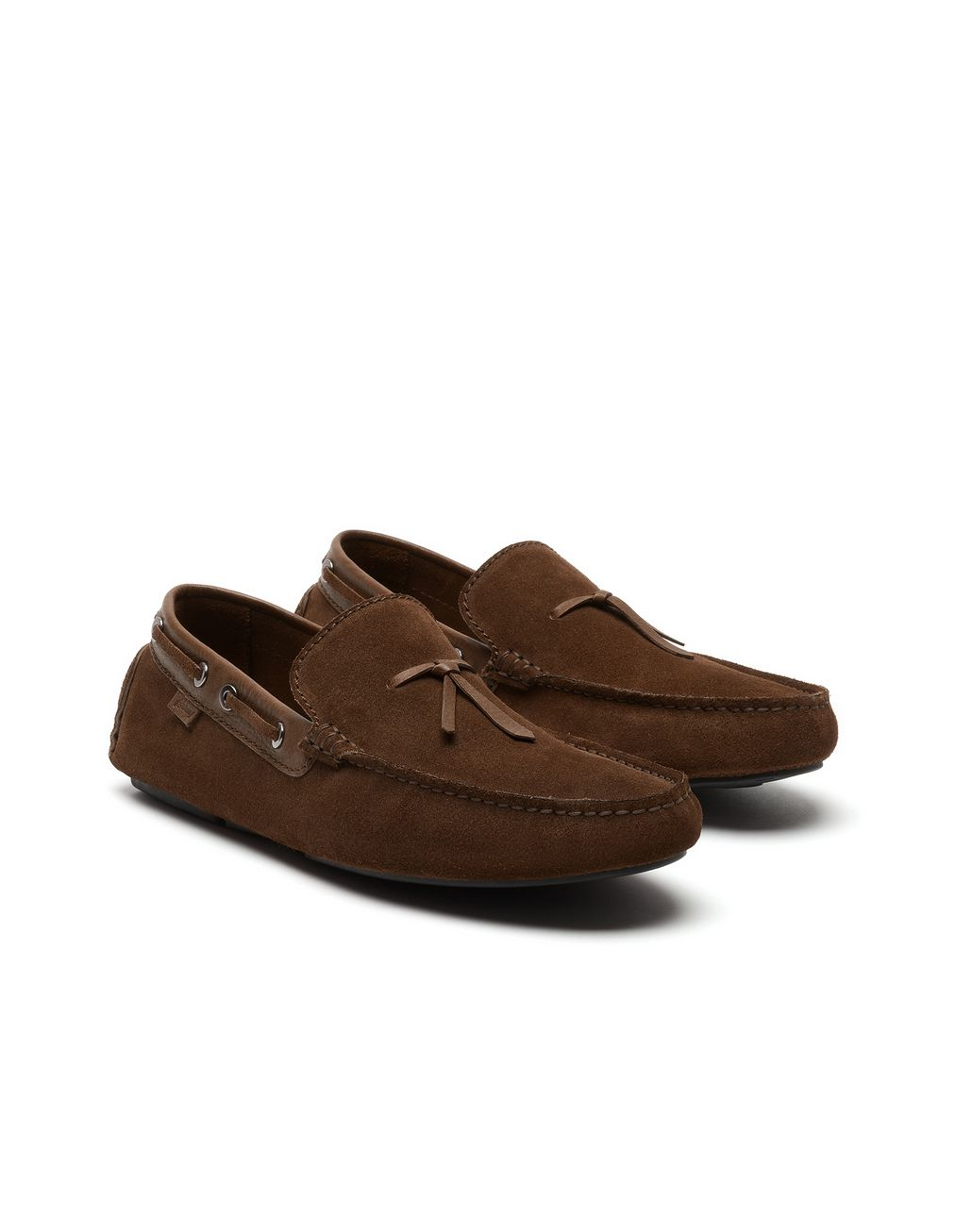 BRIONI Brown Unlined Calf Suede Loafer Loafers U d