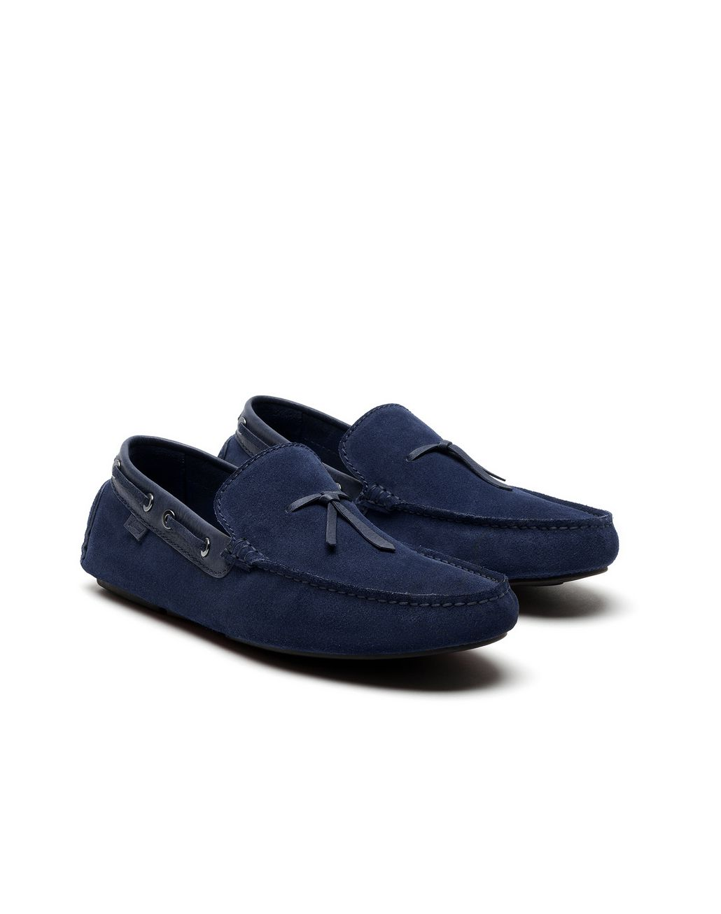 BRIONI Navy-Blue Unlined Calf Suede Loafer Loafers Man d