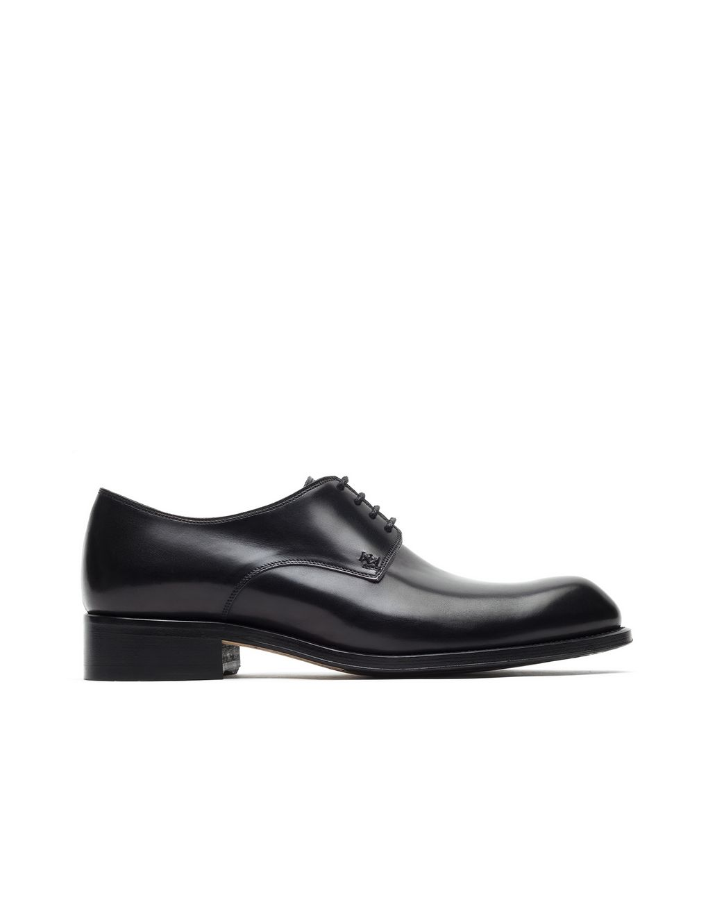 BRIONI Black Calfskin Derby   Formal shoes Man f