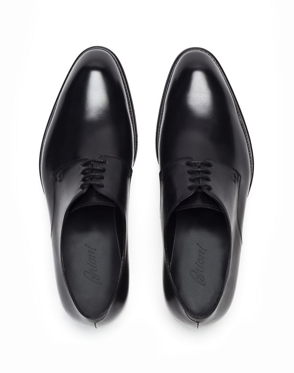 BRIONI Black Calfskin Derby   Formal shoes Man r