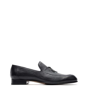 Blue Deerskin Tassel Loafer