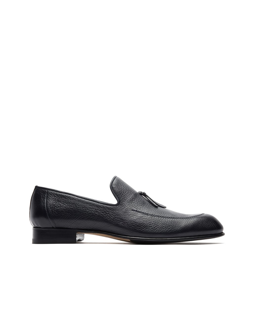 BRIONI Blue Deerskin Tassel Loafer Loafers Man f