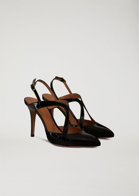 PATENT LEATHER COURT SHOE