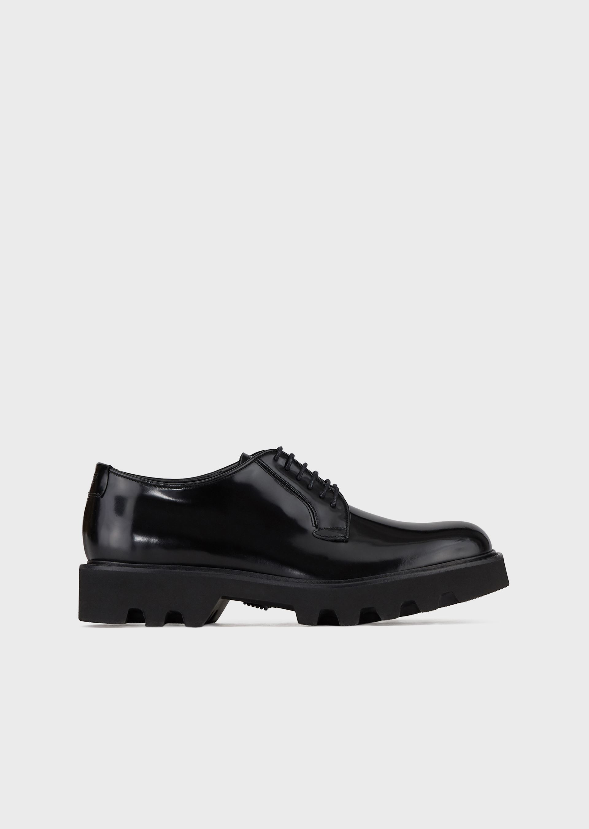 Calf-leather derby shoes Giorgio Armani 9JtrO3