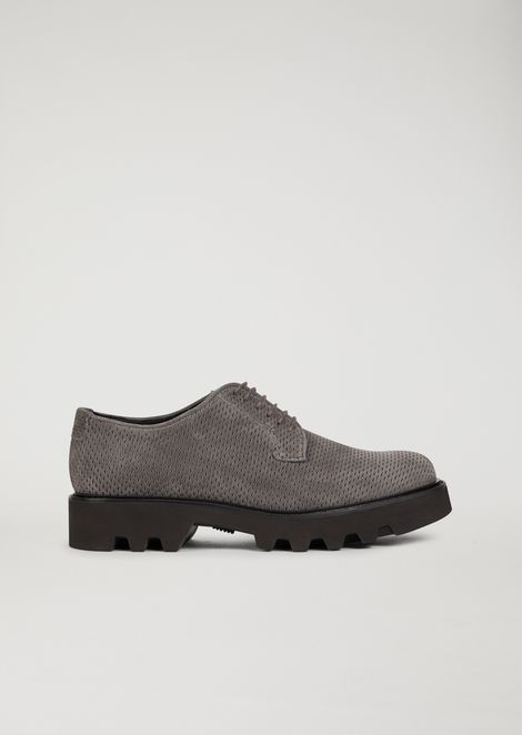 DERBY IN TEXTURED CALFSKIN LEATHER