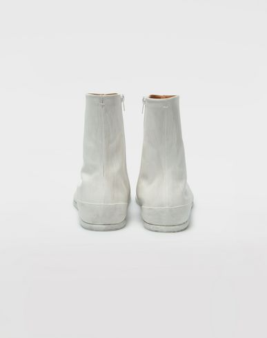 SHOES Painted leather Tabi boots White