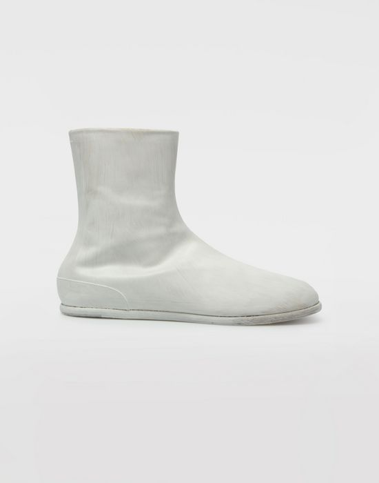 MAISON MARGIELA ペイント レザー タビ ブーツ 「タビ」ブーツ [*** pickupInStoreShippingNotGuaranteed_info ***] f