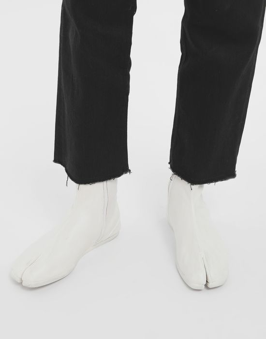 MAISON MARGIELA ペイント レザー タビ ブーツ 「タビ」ブーツ [*** pickupInStoreShippingNotGuaranteed_info ***] r