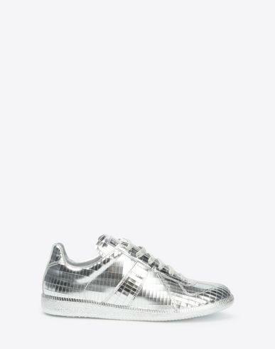 "MAISON MARGIELA Sneakers U Metallic leather ""Replica"" sneakers f"