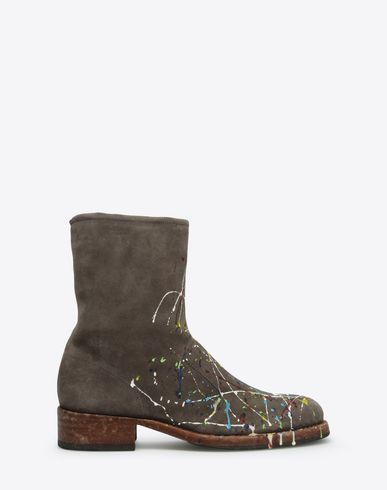 MAISON MARGIELA Ankle boots U Paint-drop suede ankle boot f