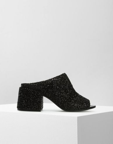 MM6 MAISON MARGIELA Sandals D Glitter flared heel mules f
