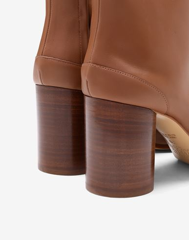 SHOES Tabi calfskin boots Tan