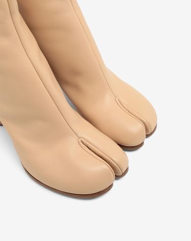 SHOES Tabi calfskin boots Skin color