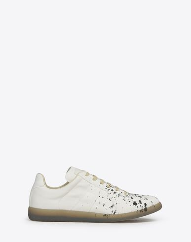 "MAISON MARGIELA Sneakers Man Cotton paint-drop ""Replica"" sneakers f"