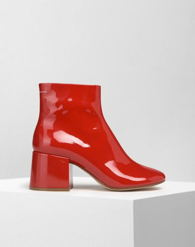 MM6 MAISON MARGIELA Ankle boots Woman Patent flared heel ankle boots f