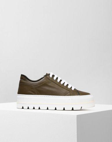 MM6 MAISON MARGIELA Sneakers Femme Sneakers compensées en cuir de veau f