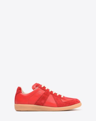 "MAISON MARGIELA Sneakers Woman Calfskin and suede ""Replica"" sneaker  f"