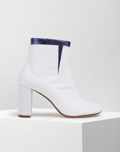 MM6 MAISON MARGIELA Ankle boots D Two-tone leather ankle boots f