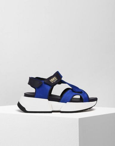 MM6 MAISON MARGIELA Sandals D Calfskin Velcro sandals with rubber soles f