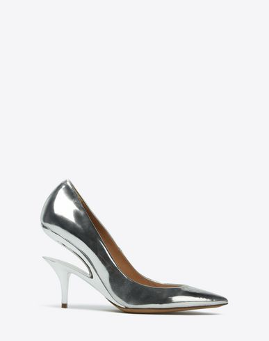 MAISON MARGIELA Closed-toe slip-ons Woman Metallic pumps with cut-out heel f