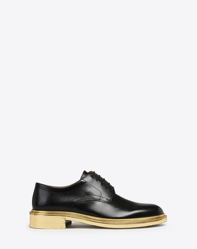MAISON MARGIELA Laced shoes U Calfskin derby shoes with metallic detail f