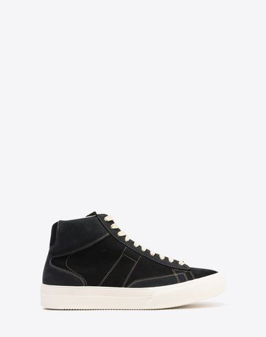 MAISON MARGIELA Sneakers U High-top calfskin patchwork sneaker f