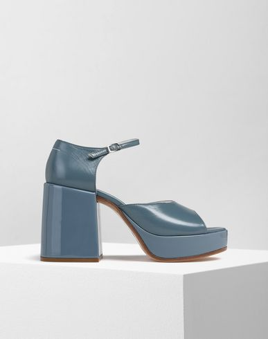 MM6 MAISON MARGIELA Sandals Woman Patent platform sandals f