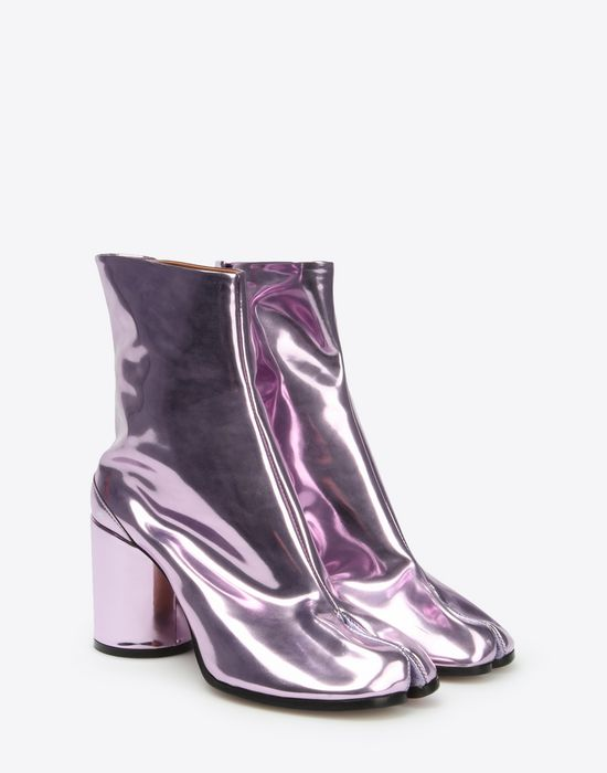 MAISON MARGIELA Metallic Tabi boots Ankle boots D r