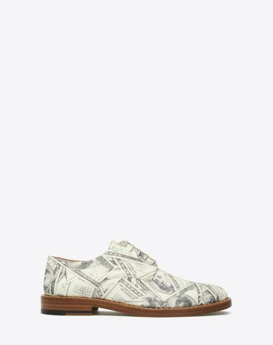 MAISON MARGIELA Laced shoes U Dollar-print Oxfords f