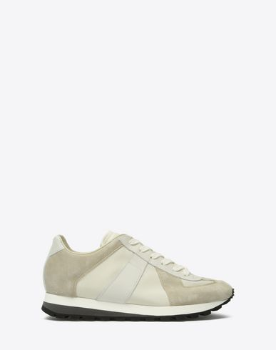 MAISON MARGIELA Sneakers U Calfskin & canvas trainers f