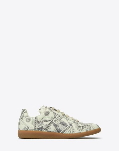 "MAISON MARGIELA Sneakers U Dollar-print ""Replica"" sneakers f"