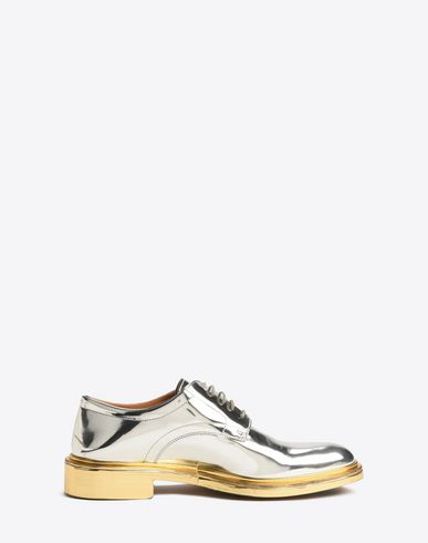 MAISON MARGIELA Laced shoes U Metallic derby shoes f