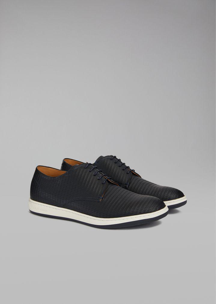 ... GIORGIO ARMANI Chaussures à lacets en cuir tressé Chaussure à lacets  Homme r ...