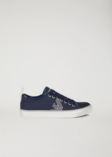 COTTON SNEAKERS WITH LOGO