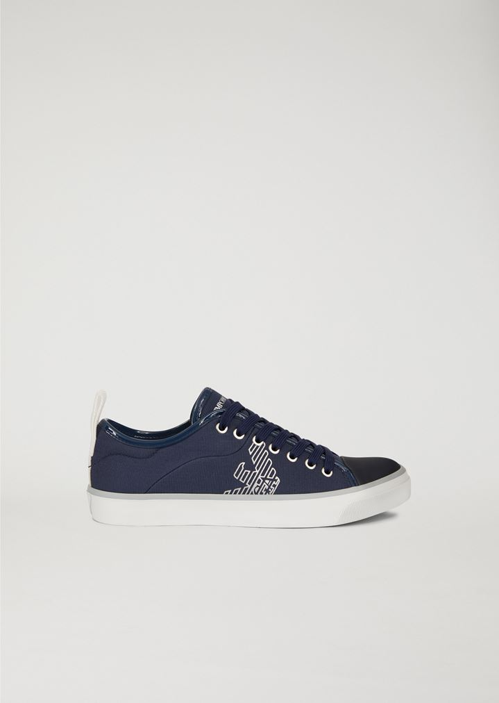 8fa6d6795f COTTON SNEAKERS WITH LOGO