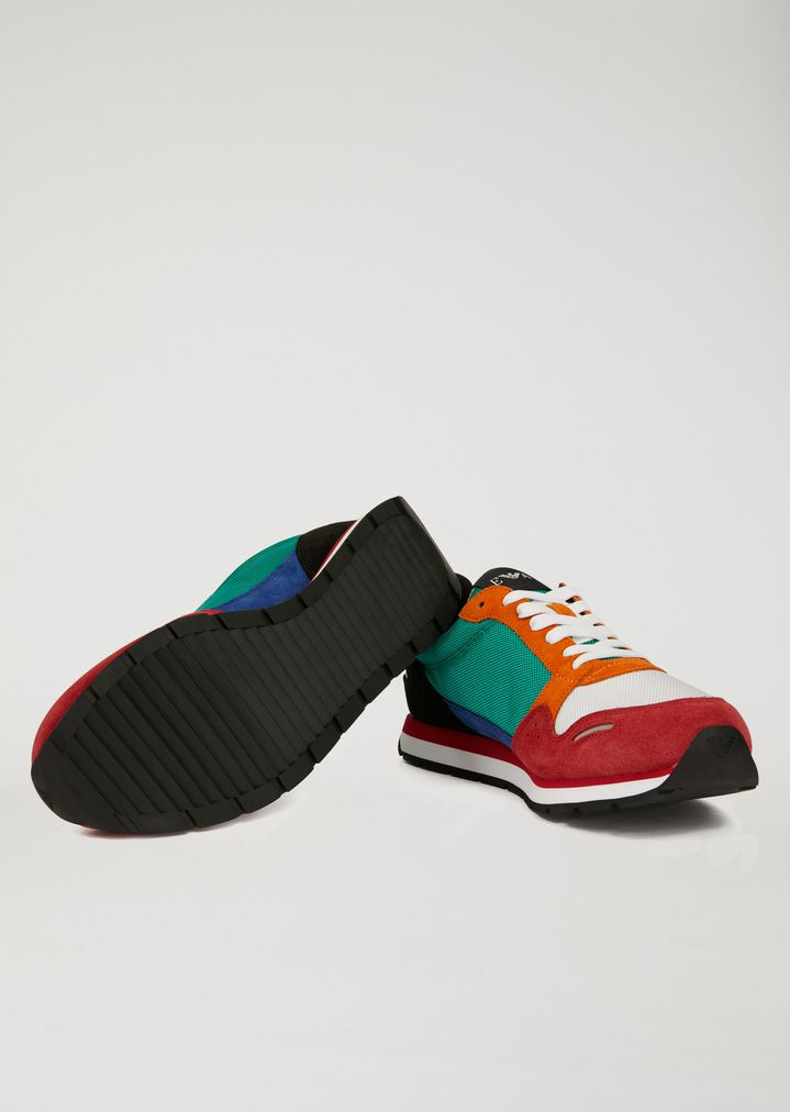logo lace-up sneakers - Yellow & Orange Emporio Armani rBXGdZ