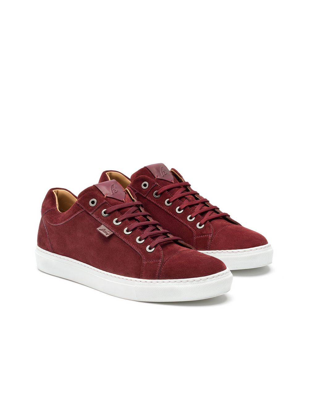 BRIONI Bordeaux Calfskin Suede Sneaker Sneakers [*** pickupInStoreShippingNotGuaranteed_info ***] d
