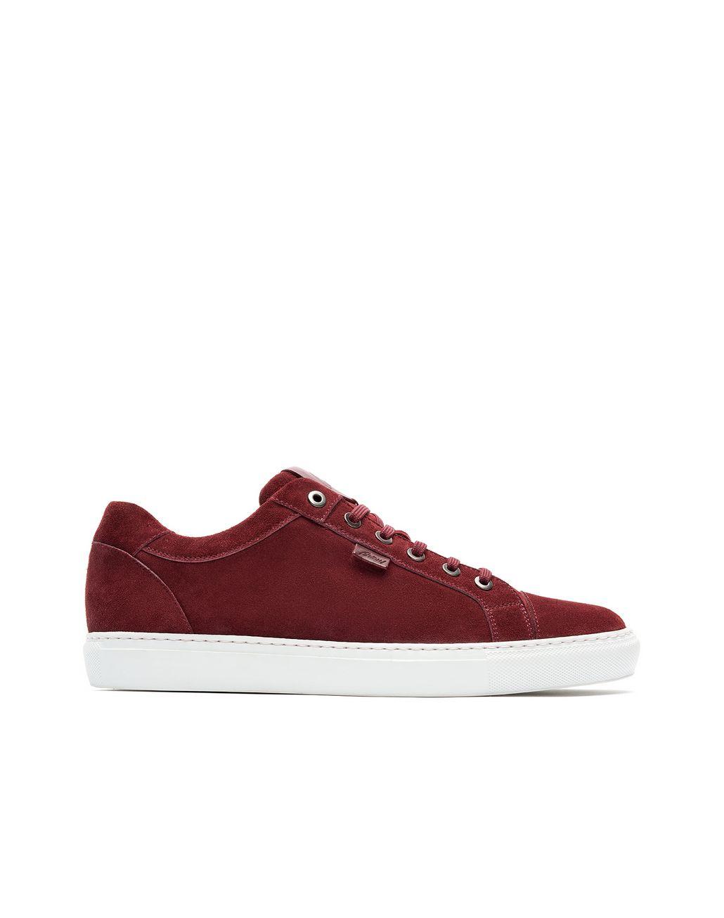 BRIONI Bordeaux Calfskin Suede Sneaker Sneakers [*** pickupInStoreShippingNotGuaranteed_info ***] f