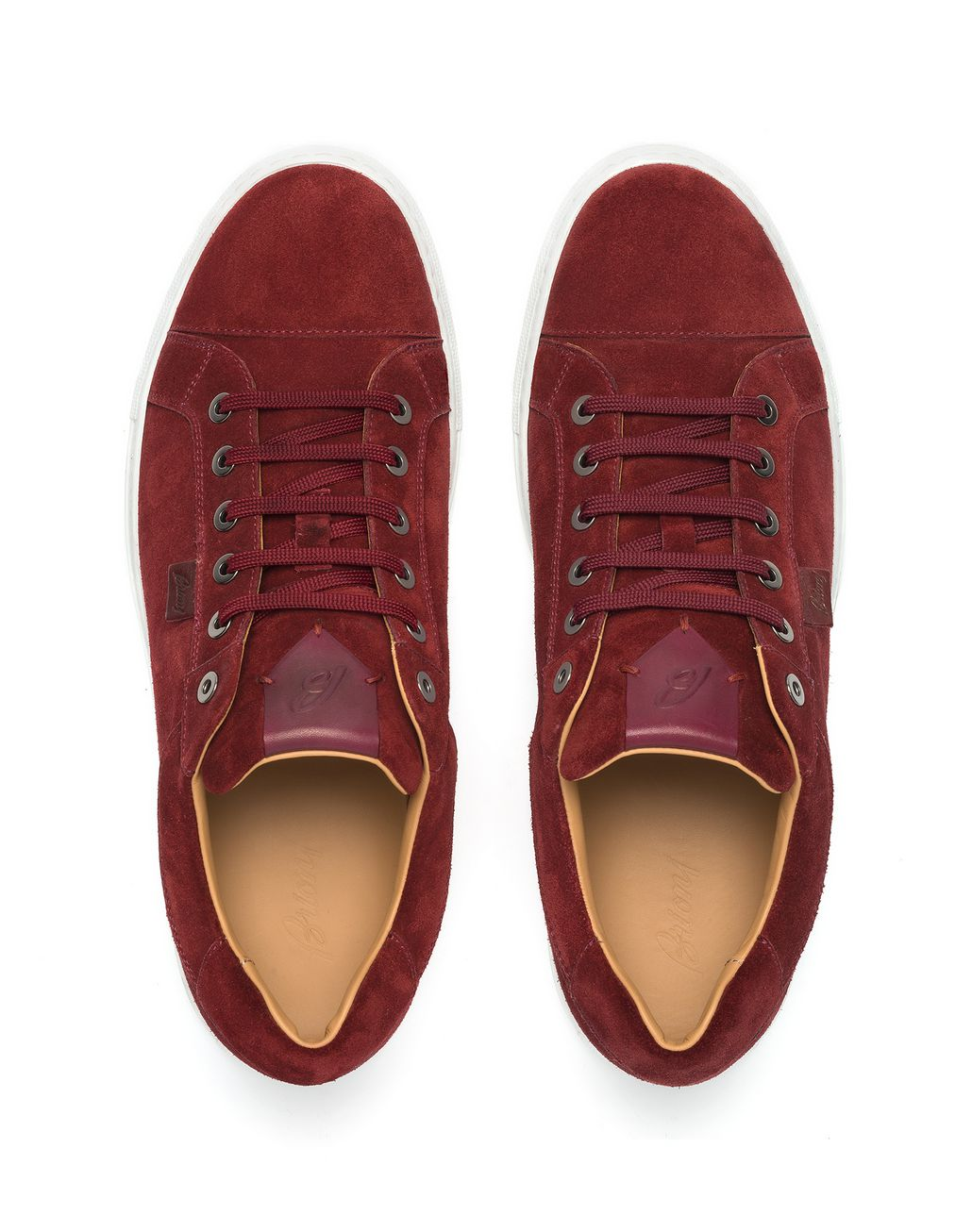BRIONI Bordeaux Calfskin Suede Sneaker Sneakers [*** pickupInStoreShippingNotGuaranteed_info ***] r