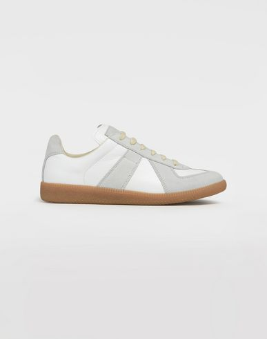 "MAISON MARGIELA Sneakers [*** pickupInStoreShipping_info ***] Calfskin and suede ""Replica"" sneaker  f"