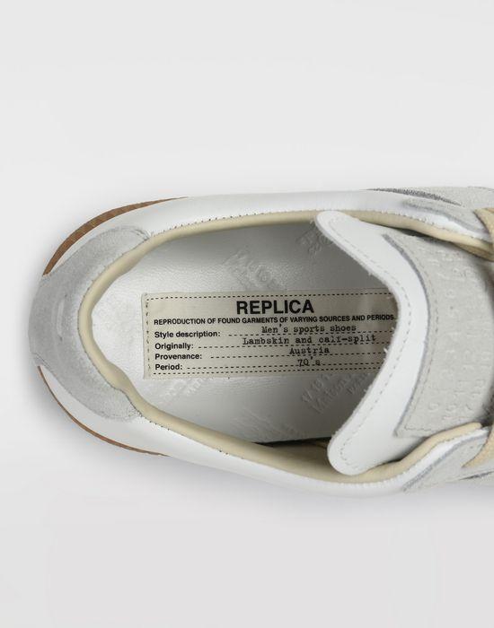"MAISON MARGIELA Calfskin and suede ""Replica"" sneaker  Sneakers [*** pickupInStoreShipping_info ***] b"
