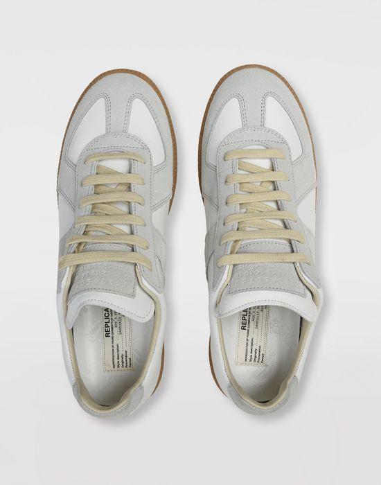 "MAISON MARGIELA Calfskin and suede ""Replica"" sneaker  Sneakers [*** pickupInStoreShipping_info ***] e"