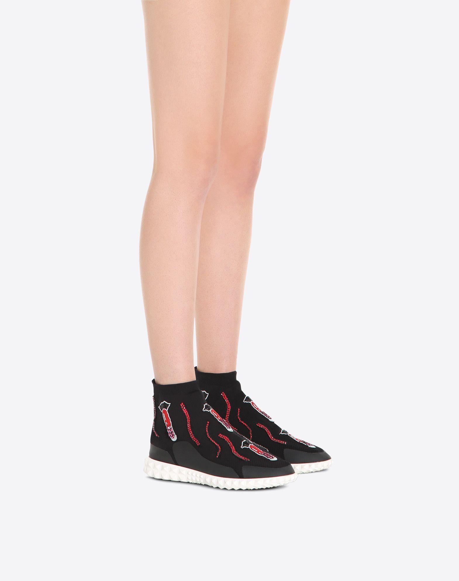 VALENTINO GARAVANI Embroidered Sneaker HIGH-TOP SNEAKER D a